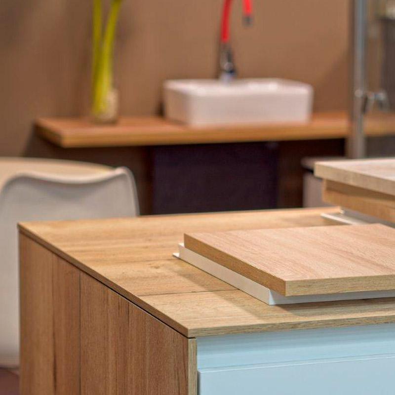 Encimeras de madera para cocinas y baños